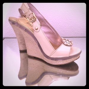 Michael Kors Platform Nude and Clear wedges
